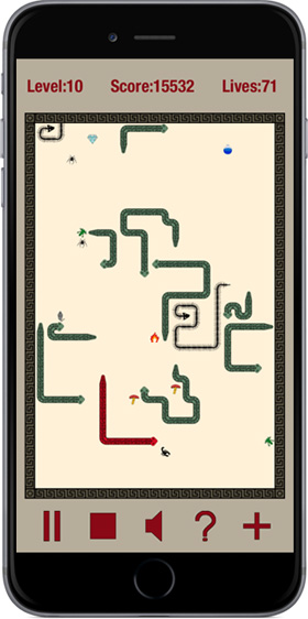 Fighting Snakes game on iPhone